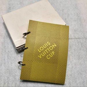 Louis Vuitton Cup Notebook •NIB• Authentic•Vintage